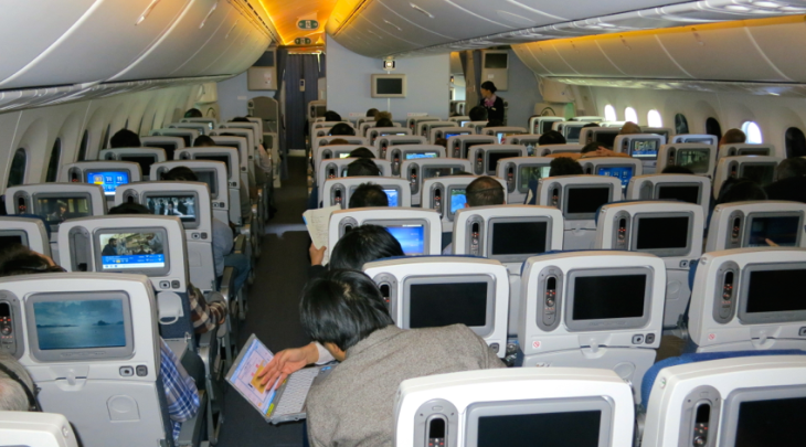 Economy class on ANA's B787-8 (Chris McGinnis)