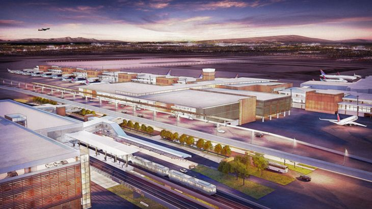 A mock up of the new terminal at Salt Lake City International