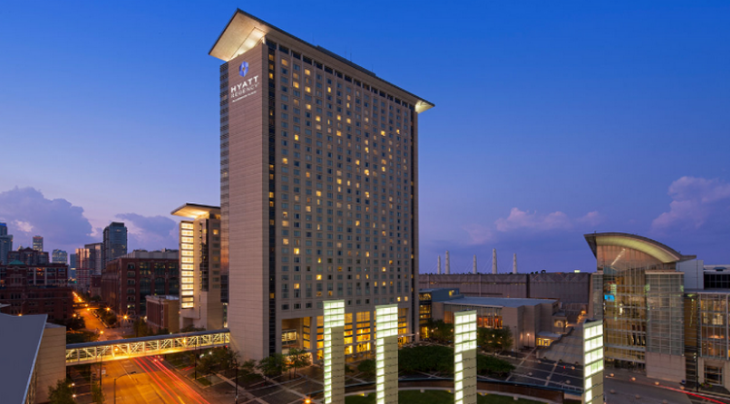 Convenient access to the convention center is a huge plus for the new and improved Hyatt Regency. (Photo: Hyatt)