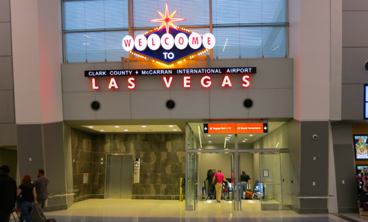 Flights to Las Vegas frequently get lucky numbers (Photo: Chris McGinnis)