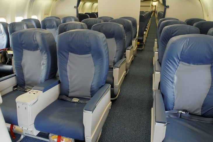 Delta's domestic first class section on a 767-300 (Photo: Delta)