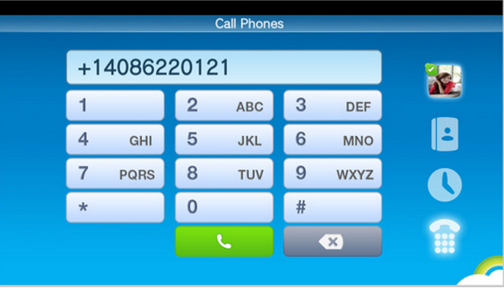 The Skype dial pad (Courtesy of Skype)