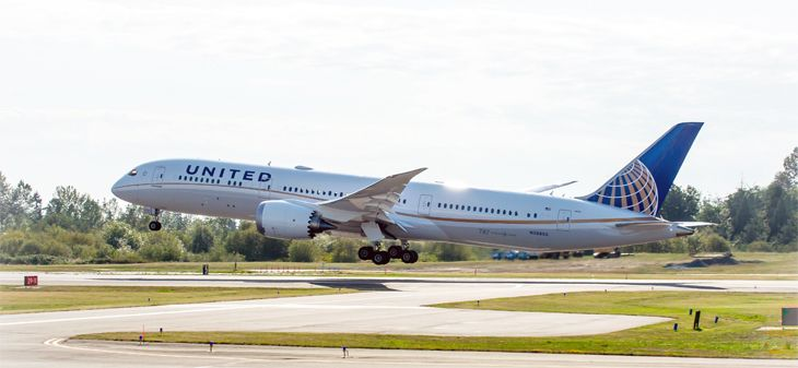 "United's ""stretch"" version of the Boeing 787 Dreamliner is headed for Melbourne (Photo: United)"