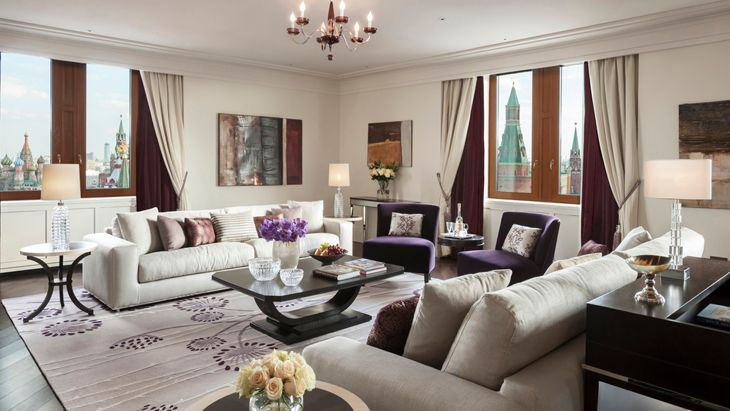 The Grand Premier Suite at the new Moskva hotel in Moscow