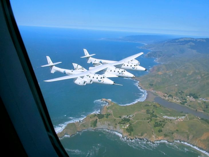 We took a ride in a Virgin America jet for one of the first looks at Virgin Galactic Spaceship 2 over Marin County in 2011. Click to see video (Photo: Chris McGinnis)