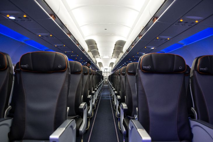 JetBlue's new A321s not only have Mint, but some of the most spacious coach class seats on the route  (Photo: JetBlue)