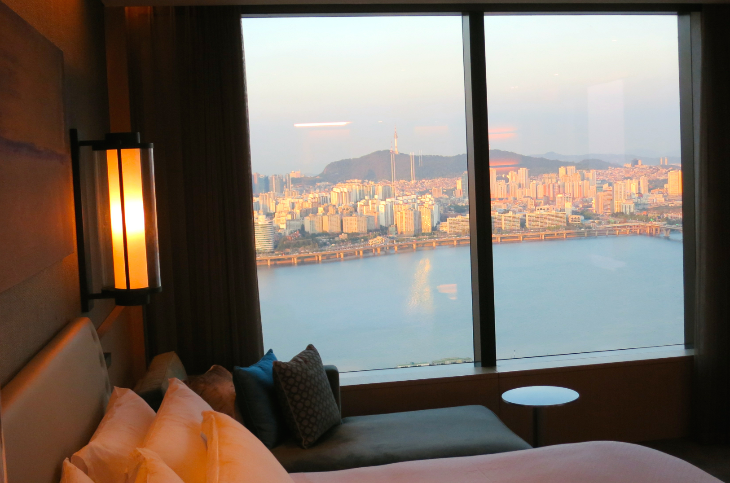 The brand new Conrad Seoul hotel is on the south side of the Han River which bisects the city (Photo: Chris McGinnis)