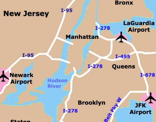LaGuardia Airport is the closest airport to Manhattan