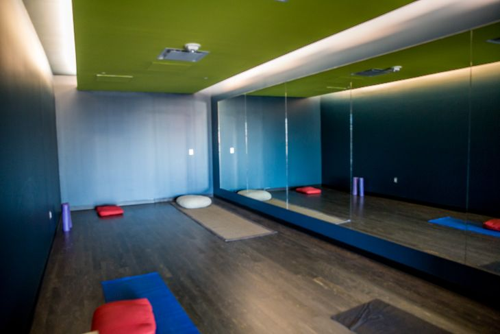 SFO's famous yoga room has moved to the new corridor.  (Photo: SFO)
