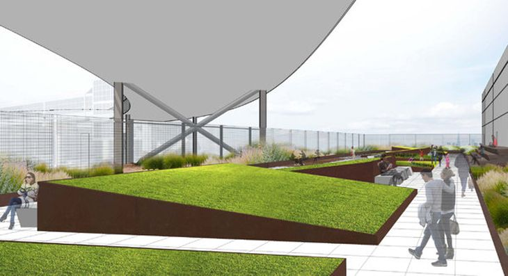 Outdoor spaces are the craze these days. Here's what JetBlue's will soon look like at JFK (Image: JetBlue)