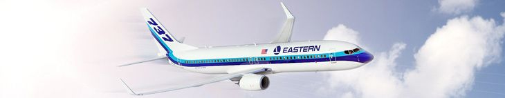 The new Eastern Airlines has painted its first jet. Brings back memories, no?