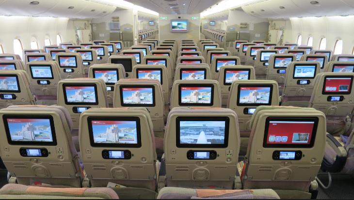 Economy class on an Emirates A380 (Chris McGinnis)