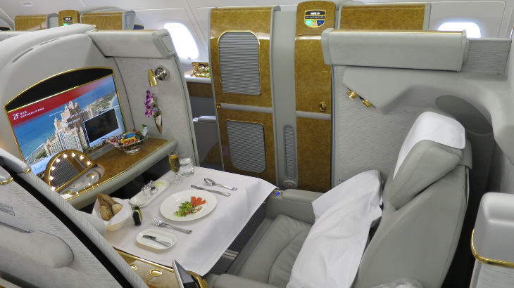 First class (14 seats) on this bird is just insane (Photo: Chris McGinnis)