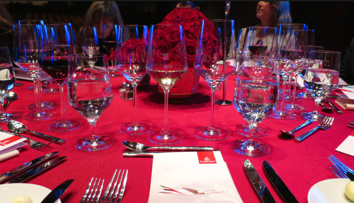 Elegant dinner on stage (Photo: Chris McGinnis)