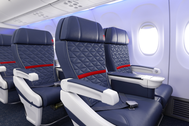 New quilted seat covers for Delta's first class flyers (Photo: Delta)