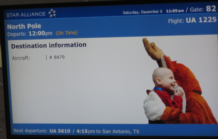 It's not every day you board a 747, destination: North Pole.