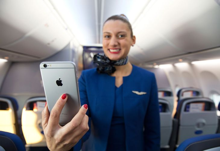 United's going big with the new iPhone 6 Plus. (Photo: United)