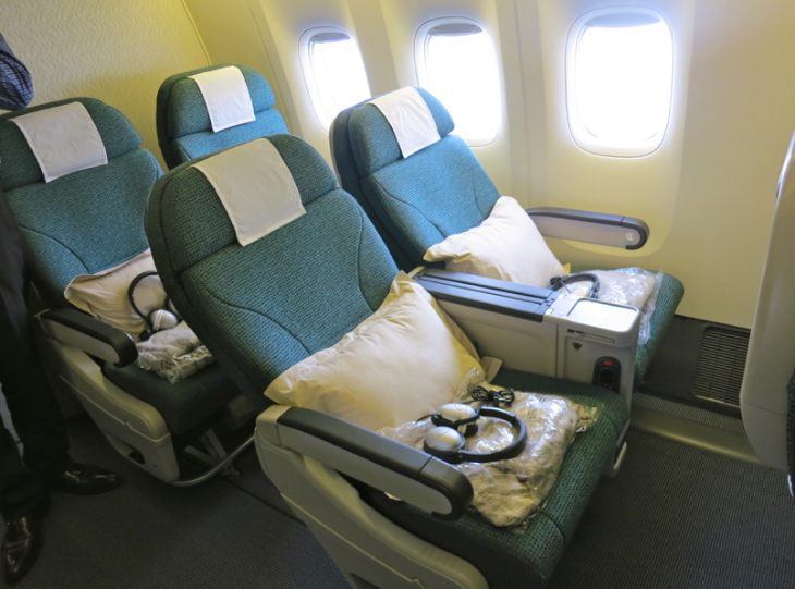 Here's Cathay Pacific's newish premium economy seat on a B777 (Photo: Chris McGinnis)