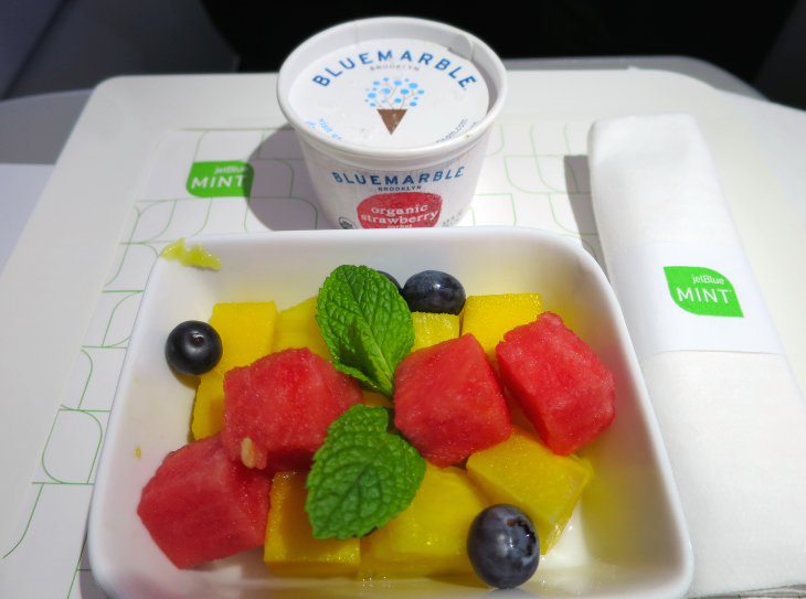 JetBlue's Mint class meals are excellent (Photo: Chris McGinnis)