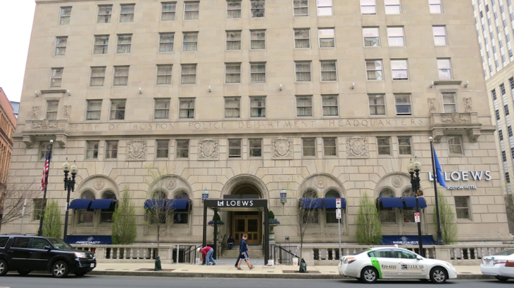 The new Loews Boston used to be the Back Bay Hotel- inside an old police precinct building (Photo: Chris McGinnis)