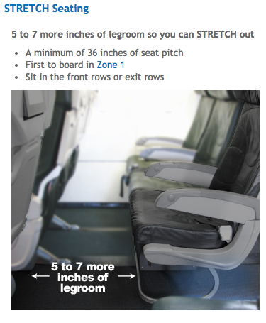 Business Travelers May Want To Consider Frontiers Stretch Seats Which Offer More Legroom