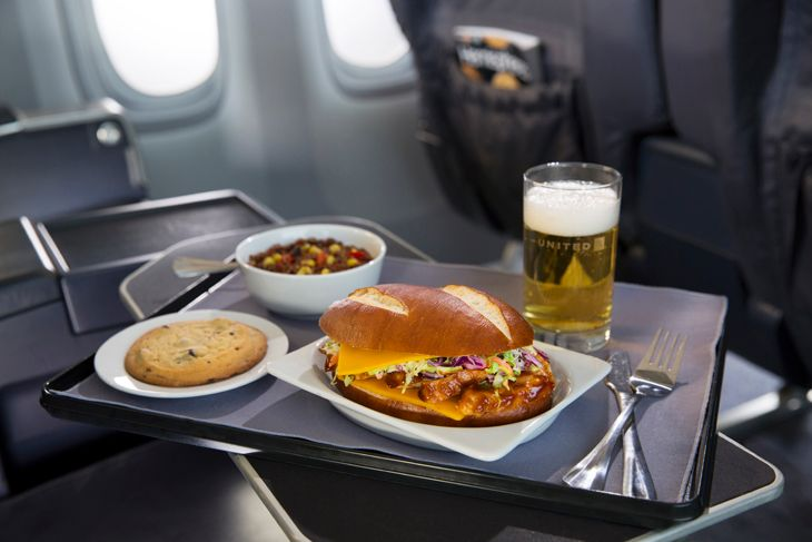 Umm BBQ on United. Is airline food getting better overall? (Photo: United)