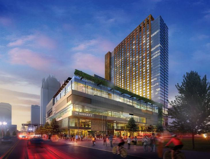 Just in time for SXSW the enormous new JW Marriott Austin (Rendering: Marriott)