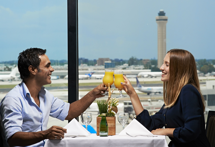 Breakfast at home overlooking the runways? (Photo: Miami International Airport Hotel)