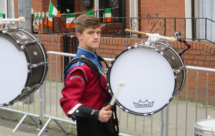 US high school bands compete for a handful of coveted spots in the parade- this guy is from Woodstock High near Atlanta (Chris McGinnis)
