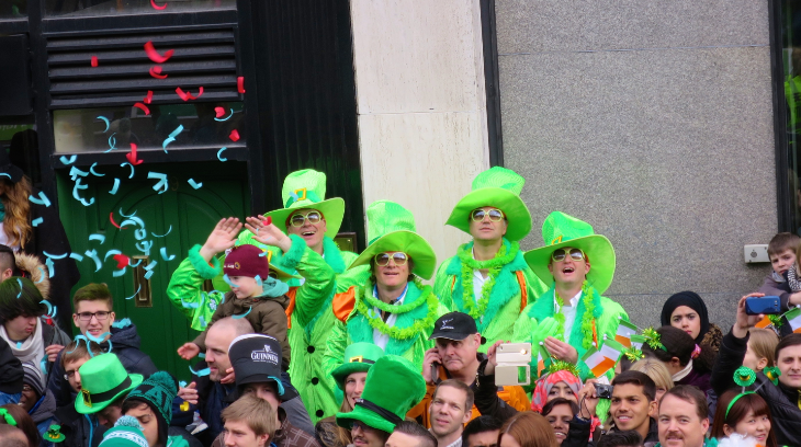 Fun times along the parade route-- but no drinking allowed during the parade (Chris McGinnis)