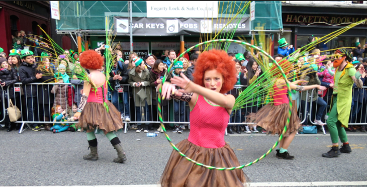 Floats and dancers-- all very good, very energetic and vamping with the crowd (Chris McGinnis)