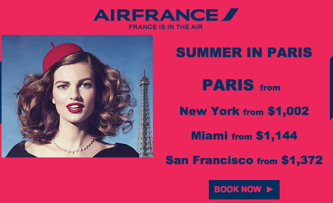 Freshly posted fares to France (Image: Air France)