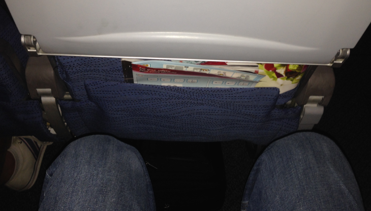 Keep your stuff out of that nasty seatback pocket (Photo: Chris McGinnis)