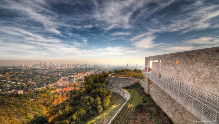 The Getty Center overlooking the 405 and downtown LA (Photo: Justin Vidamo / Flickr)