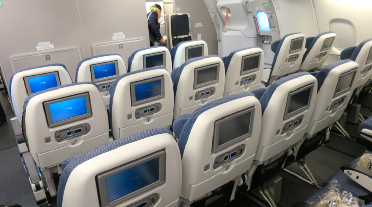 Best economy class seats are rows 81-83 at the rear of the upper deck (Chris McGinnis)