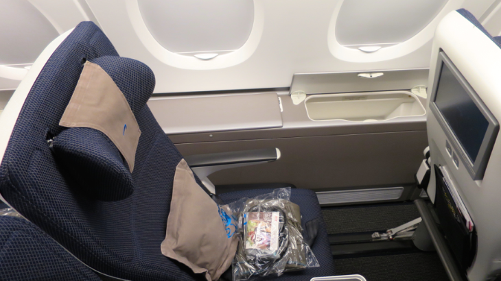 British Airways premium economy seat on upper deck configured 2-3-2 (Chris McGinnis)