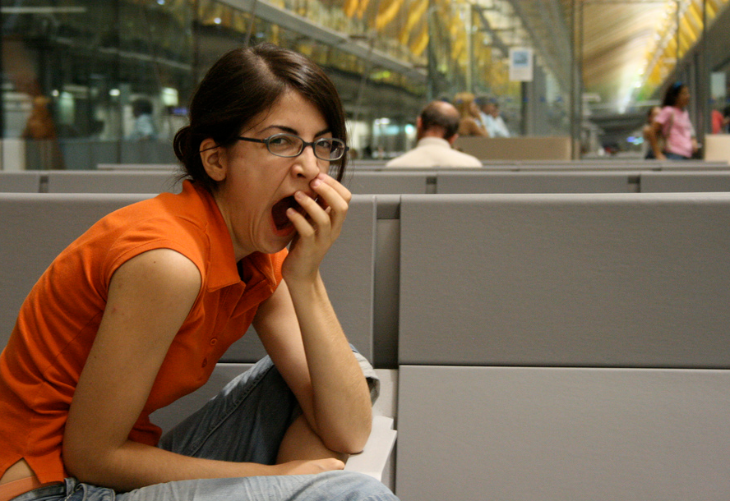 Keep yawning in check at the airport! (Photo: Natalia Lobato)