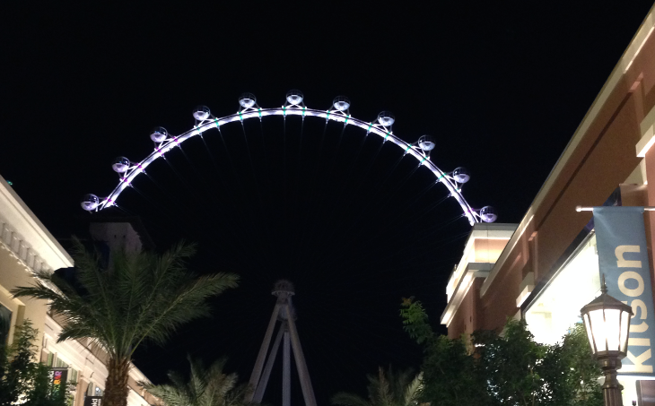 Tipping in Vegas? YES. And generously. Pictured: The new High Roller ferris wheel. (Image: Chris McGinnis)