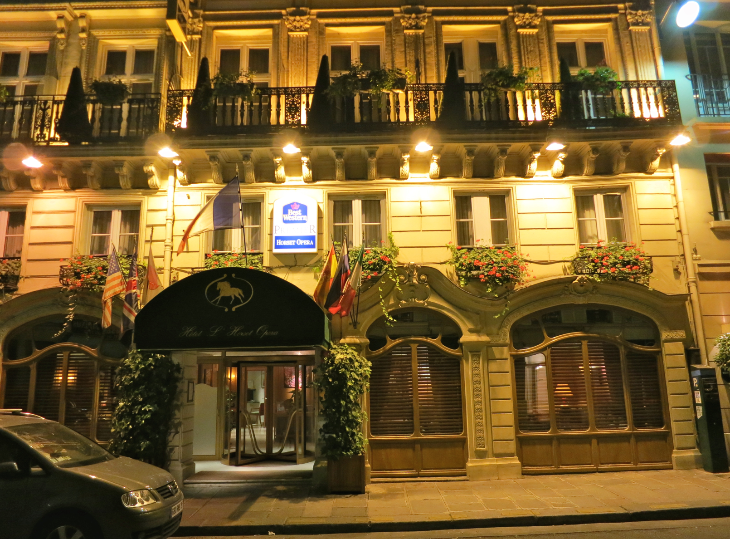 Best Western Reward points can be redeemed at 4,000 hotels worldwide, like this one near the Opera in Paris. (Chris McGinnis)