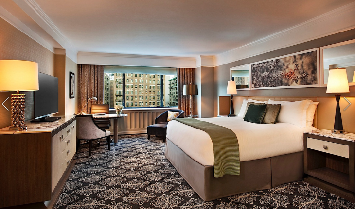 Like NEW hotels in New York? Then check into a room like this at the recently revamped Loew Regency New York (Photo: Loews)