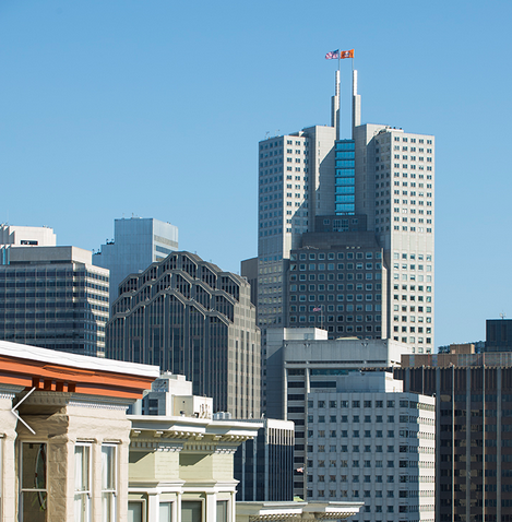 The new Loews Regency San Francisco looks like a tuning fork in the skyline (Image: Loews)