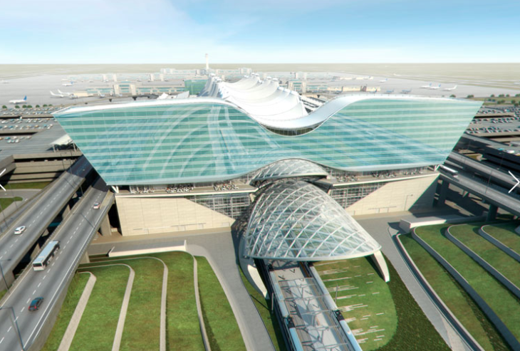 Rendering of the new Westin hotel at Denver International Airport (Starwood)
