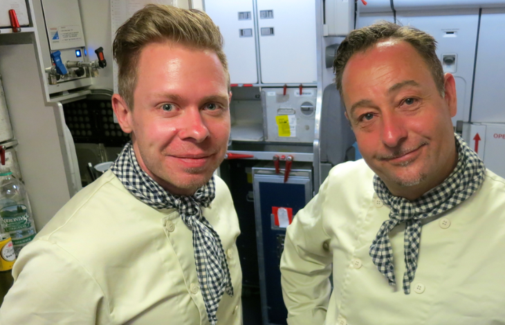 Last time I flew to Denmark, the smiles started on the plane when chefs served meals in biz class (Chris McGinnis)