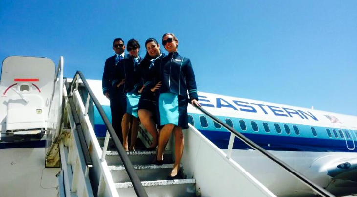 The new Eastern Airlines first class of flight attendants in Miami (Photo: Shelly Gerrish)