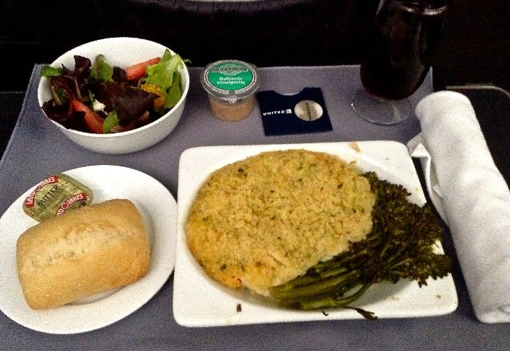 United's new lobster mac and cheese- -not too pretty, but tasty! (Photo: PM)