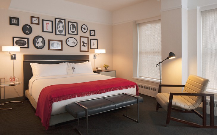 A room at the quaint Martha Washington hotel in Manhattan (Chelsea Hotels)