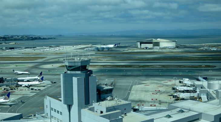 Looking out over T3 and the current control tower (Chris McGinnis)