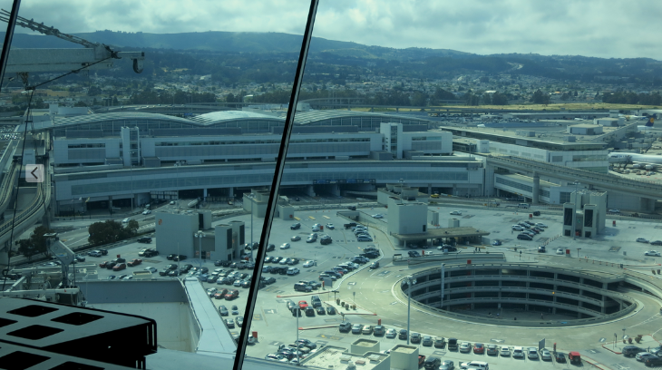 Looking over the parking lot and international terminal (Chris McGinnis)