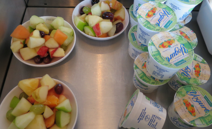Fruit and yogurt and a full bar for breakfast (Chris McGinnis)