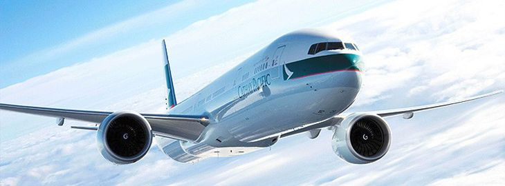 Cathay Pacific will use a 777-300ER like this one for its new Boston-Hong Kong non-stops. (Image: Cathay Pacific)